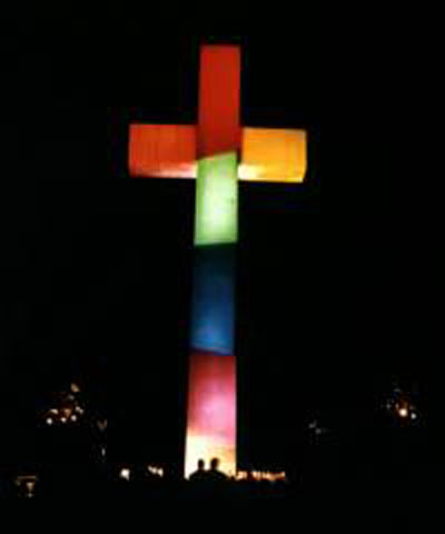 1997 Easter Rainbow Cross