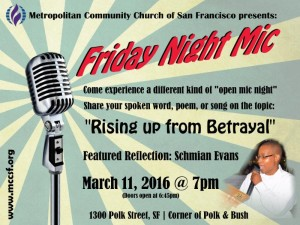 Friday night Mic March